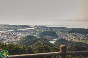 鳥取城跡(久松山)を撮影しました