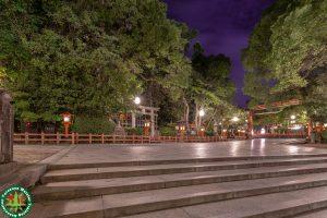 深夜の八坂神社 京都府京都市東山区祇園町北側にある神社。